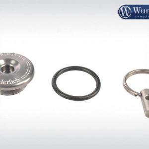 Bouchon de sécurité pour réservoir d'huile en titane-14048