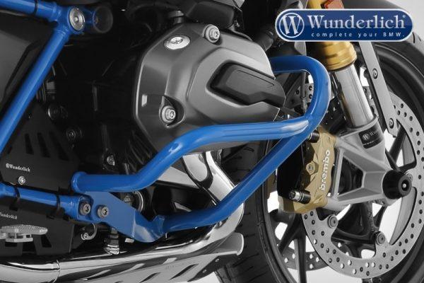 Pare cylindre tubulaire bleu-13965